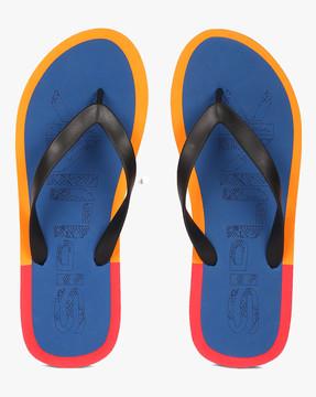 Colourblock Thong-Style Flip-Flops