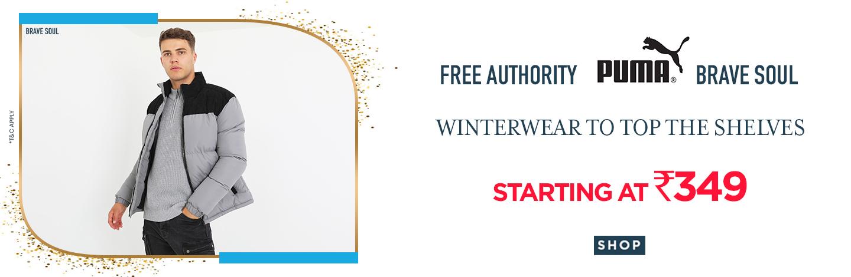 ajio.com - Winterwear starting at just ₹349