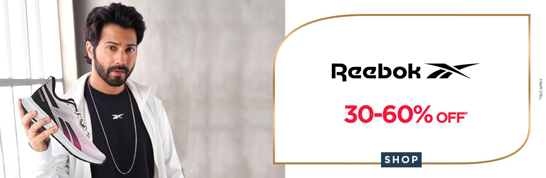 ajio.com - Get Upto 60% Off on Reebok Sportswear