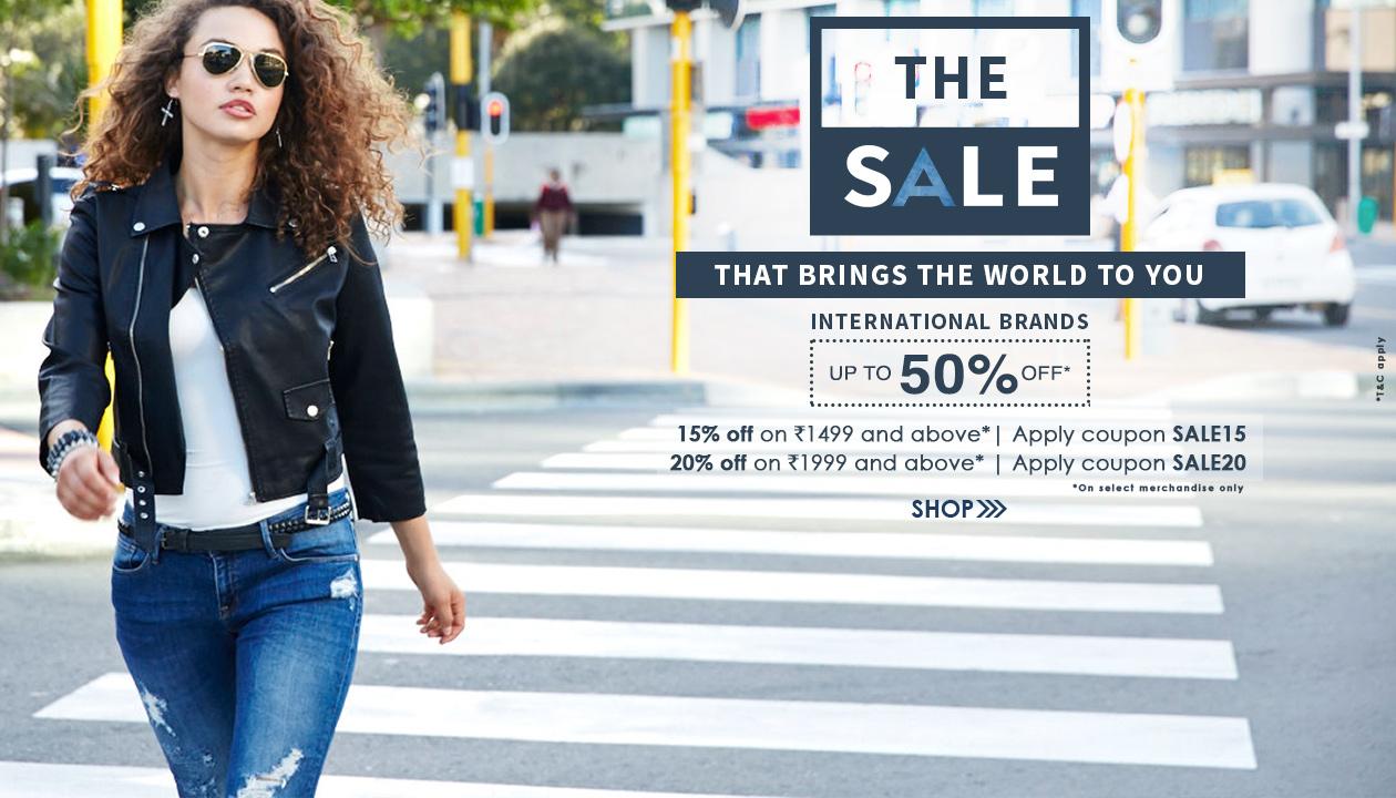 International Brands Upto 50% OFF + Extra Upto 20% OFF From ajio.com