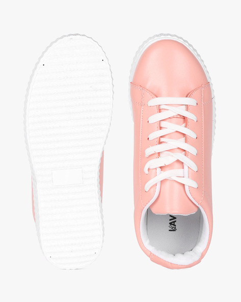 Lace-Up Shoes With Contrast Sole By Lavie ( Pink )