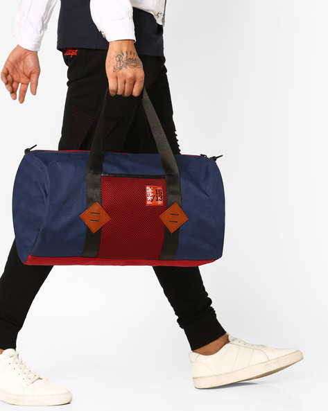 Hoppipolla Canvas Duffle Bag By Atorse ( Blue )