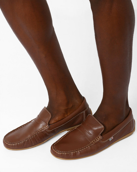 Leather Penny Loafers By ARROW ( Tan )