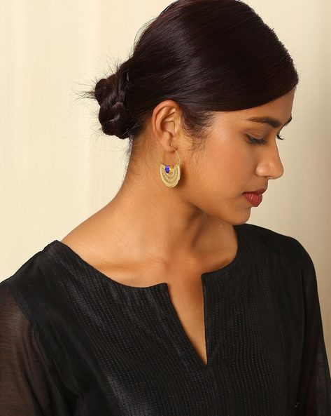 Gold-Plated Brass Hoop Earrings By Indie Picks ( Multi ) - 460045179001