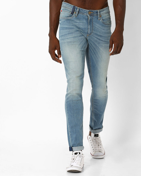 Low-Rise Skinny Jeans By Jack & Jones ( Blue )