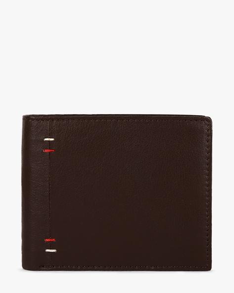 Bi-Fold Genuine Leather Wallet By TEAKWOOD LEATHERS ( Brown ) - 460053042001