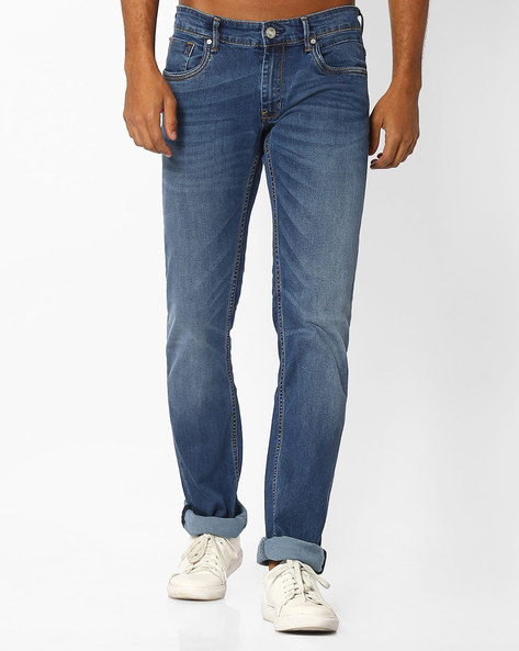 Drift Fit Stretch Jeans By BASICS ( Blue )