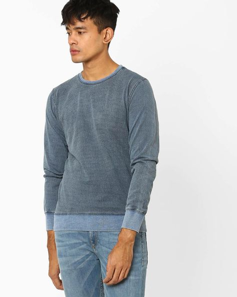 Slim Fit Crew-Neck Pullover By GAS ( 0463 )