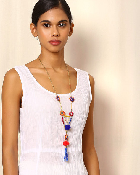 Lariat Style Necklace By Indie Picks ( Multi ) - 460054537001