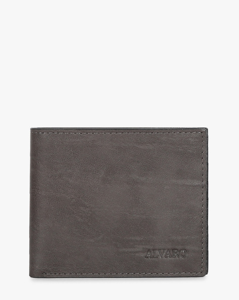Textured Genuine Leather Bi-Fold Wallet By ALVARO CASTAGNINO ( Brown ) - 460135688001