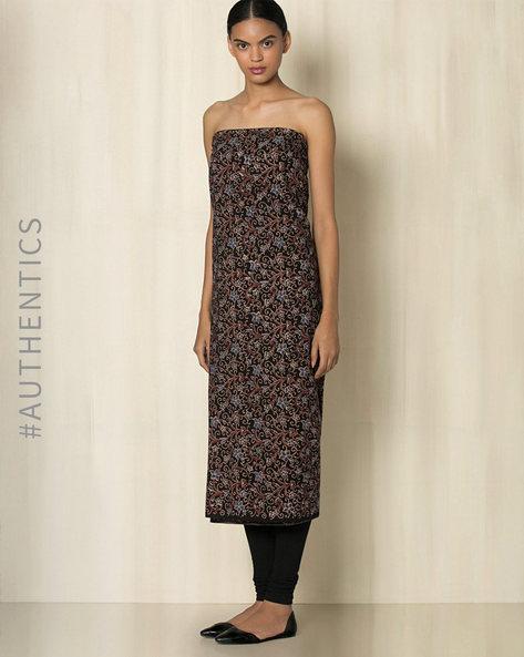 Ajrak Handblock Print Cotton Kurta Fabric By Indie Picks ( Multi ) - 460033177001