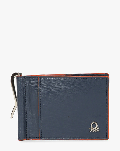 Genuine Leather Bi-Fold Wallet By UNITED COLORS OF BENETTON ( Blue ) - 460133117002