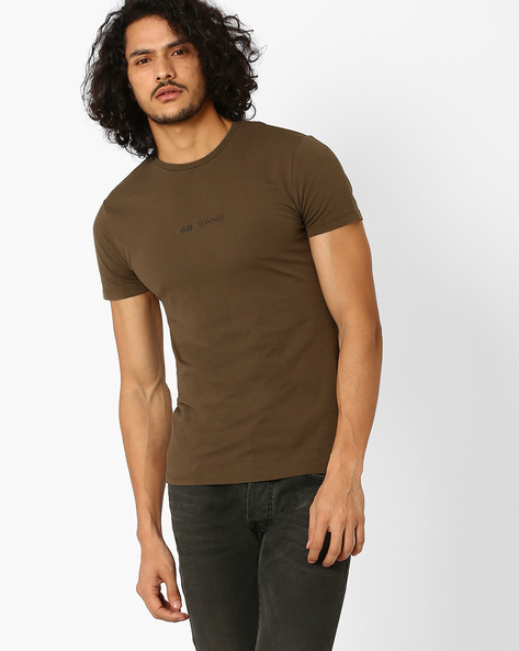 Crew-Neck Slim T-shirt By GAS ( 0107 )