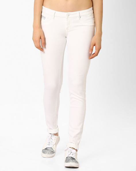 Low-Rise Skinny Fit Jeans By Lee ( Lightblue )