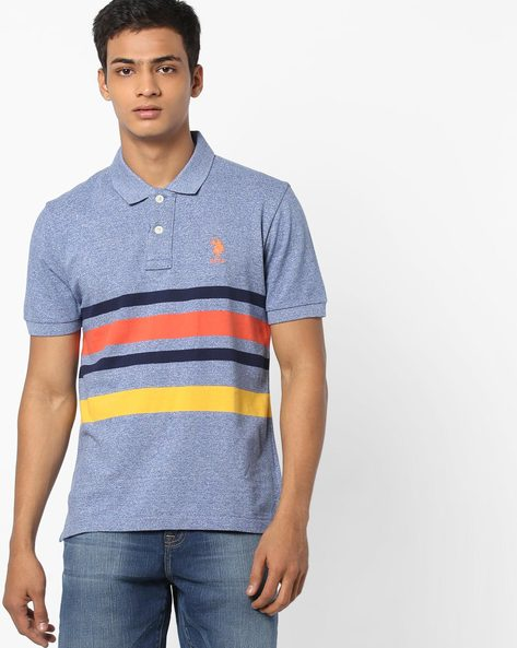 Polo T-shirt With Contrast Stripes By U.S. Polo Assn. ( Assorted )