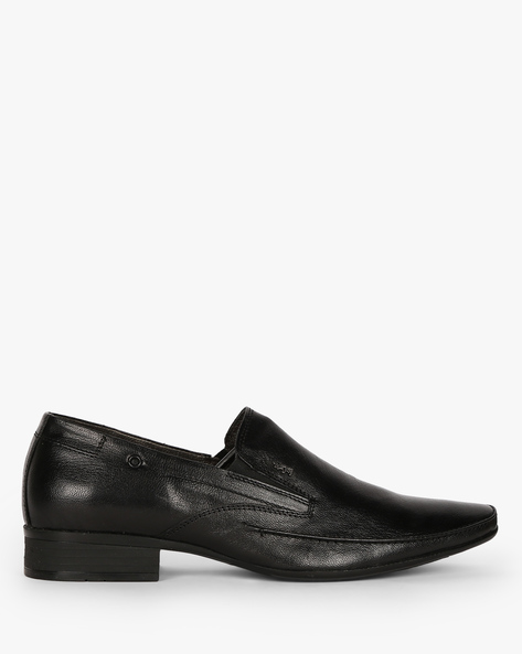 Genuine Leather Slip-Ons By Lee Cooper ( Black )