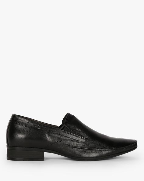 Genuine Leather Slip-Ons By Lee Cooper ( Black )