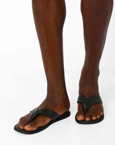 Thong Strap Flip-Flops By USPA ( Black )