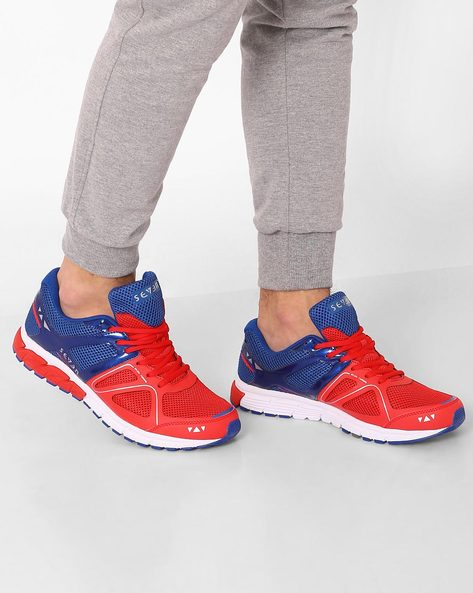 Lace-Up Running Shoes By SEVEN ( Red )
