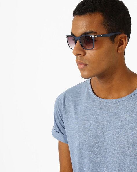 Wayfarer Sunglasses With Metal Accent By MTV ( Purple )
