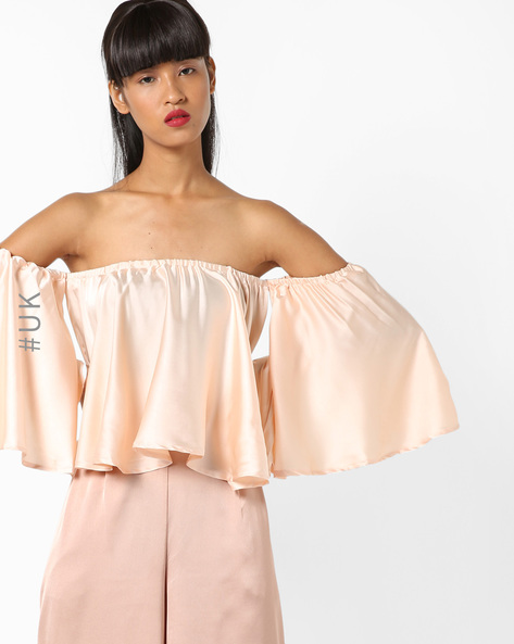 Off-Shoulder Top With Batwing Sleeves By INFLUENCE ( Blush )