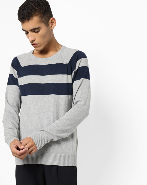 Crew-Neck Sweater With Ribbed Hems By FLYING MACHINE ( Assorted )