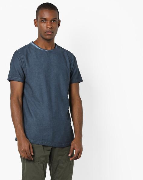 Regular Fit Crew-Neck T-shirt By AJIO ( Mint )