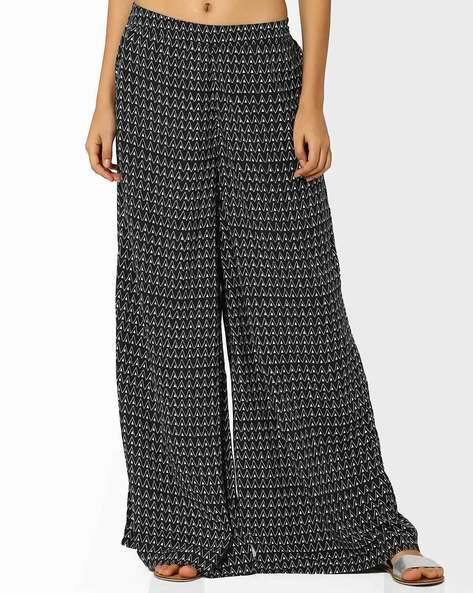 Lucinda Palazzo Pants By Global Desi ( Black )