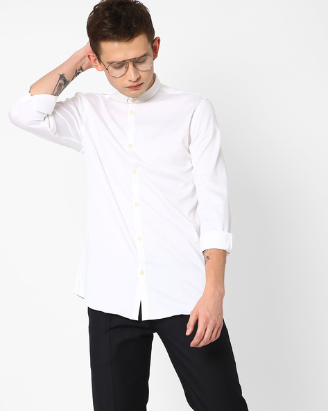 Slim Fit Shirt With Slim Collar By Jack & Jones ( White )