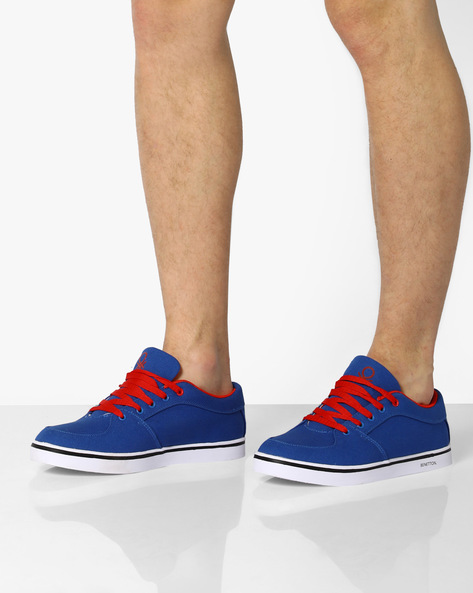 Canvas Low-Top Sneakers By UNITED COLORS OF BENETTON ( Lightblue )