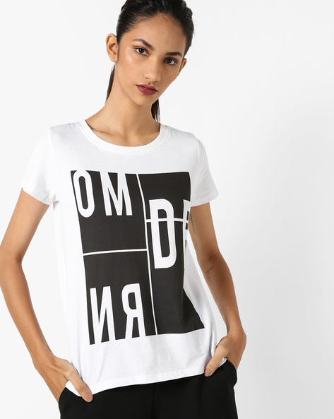 Graphic Print T-Shirt By UNITED COLORS OF BENETTON ( White )
