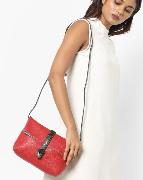 Foldover Sling Bag By Gusto ( Red )