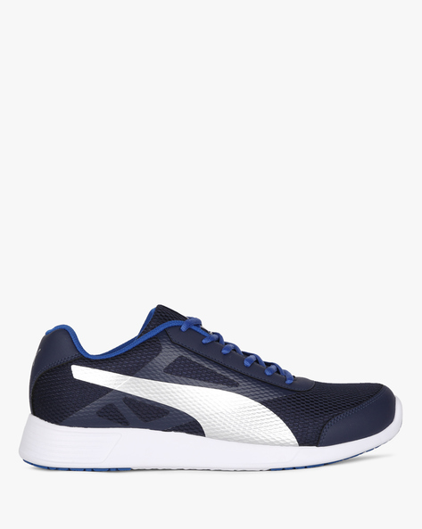 Low-Top Lace-Up Sports Shoes By Puma ( Navyblue )