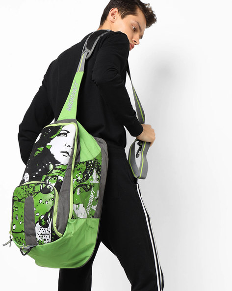 Printed Gym Bag By Wildcraft ( Green )