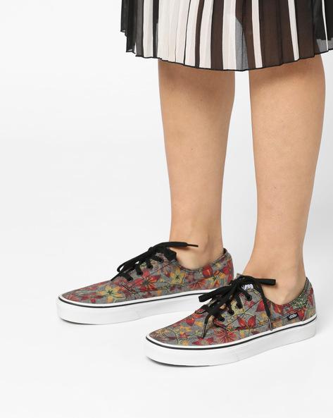 Brigata Floral Print Canvas Shoes By Vans ( Asphalt )