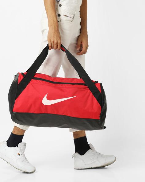 Colourblock Duffel Bag By NIKE ( Red )