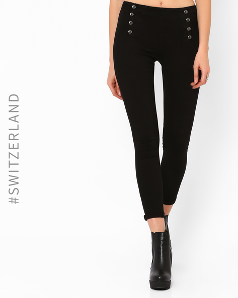 Ankle-Length Pants By TALLY WEiJL ( Black )