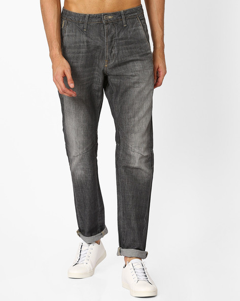 Lightly Washed Slim Jeans By VOI JEANS ( Grey )