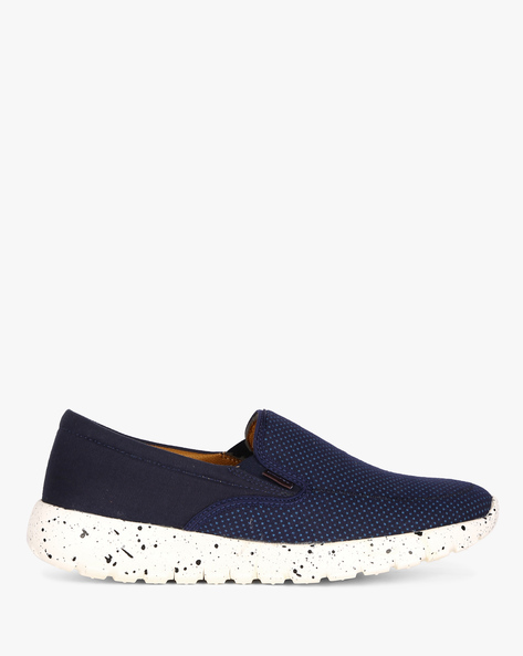 Slip-On Sneakers With Elasticated Gussets By ESCARO ( Blue )