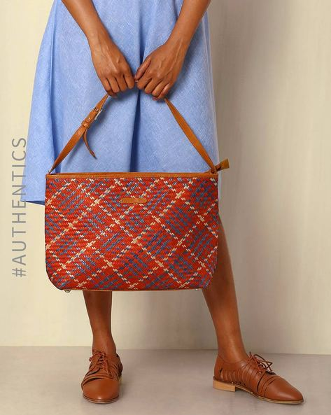 Handcrafted Natural Fibre Tote Bag By Indie Picks ( Multi ) - 460039143001