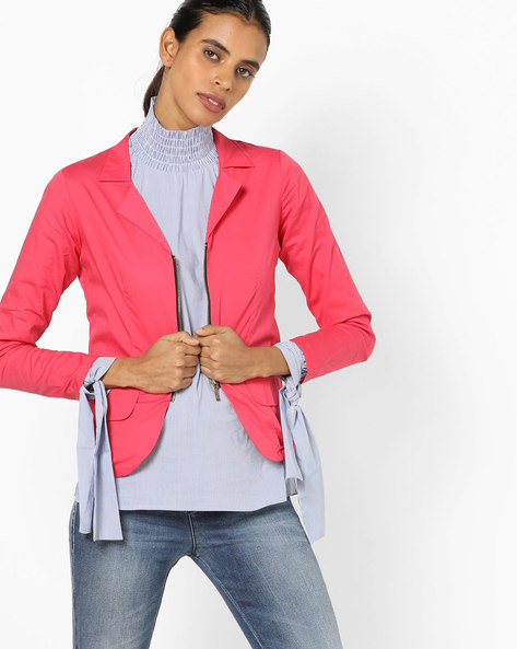 Jacket With Notched Lapel By And ( Pink )
