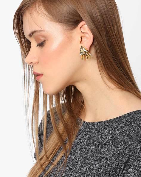 Rhinestone Stud Earrings By Ssoul ( Gold ) - 460029474001