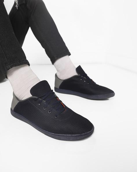 N9-Treated Panelled Sneakers By AJIO ( Navy )