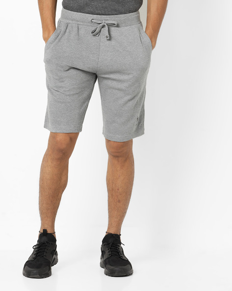 Shorts With Elasticated Waist & Drawstring By US POLO ( Greymelange )