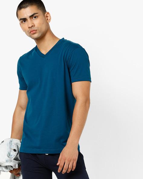V-neck T-shirt With Ribbed Hems By Jockey ( Multi )