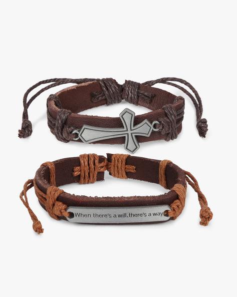 Pack Of 2 Bracelets By ALPHA MAN ( Brown )