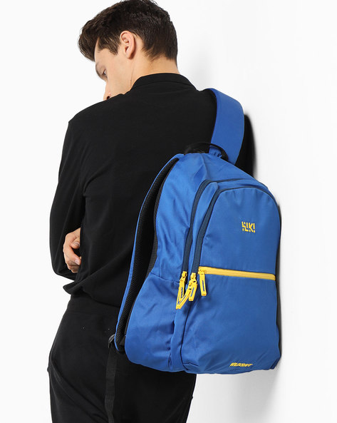 Colourblock Backpack With Brand Print By Wildcraft ( Blue ) - 460169423002