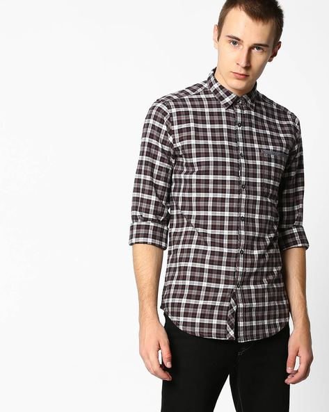 Checked Shirt With Patch Pocket By Pepe Jeans ( Grey )