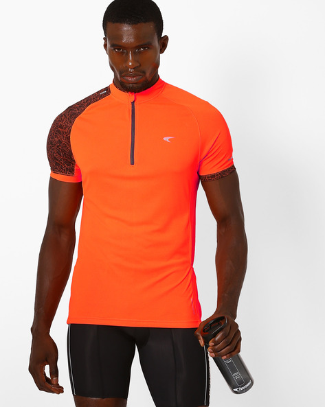Reflective T-shirt With Quick Dry By PERFORMAX ( Orange )