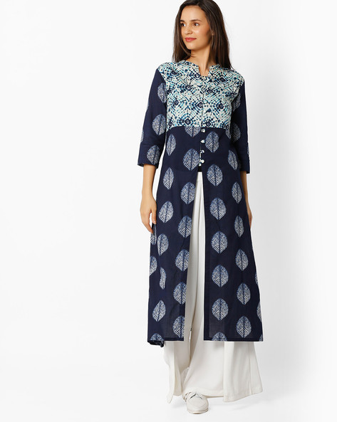 Printed Open-Front Kurta By BE INDI ( Assorted )